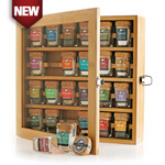 Artisan Gourmet Salt Sampler, 24 jars in Bamboo Case
